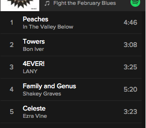 Playlist: Fight the February Blues