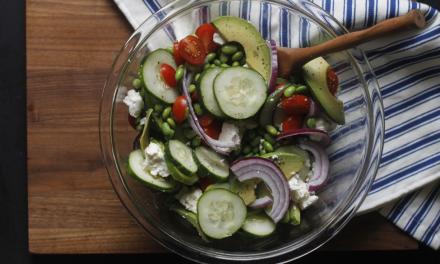 Edamame, Feta and Tomato Salad