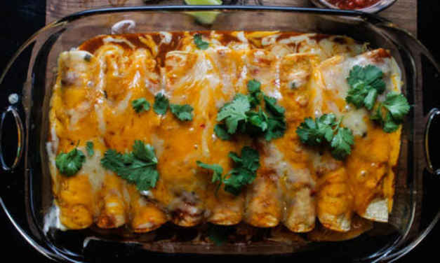 Cilantro Chicken Enchiladas